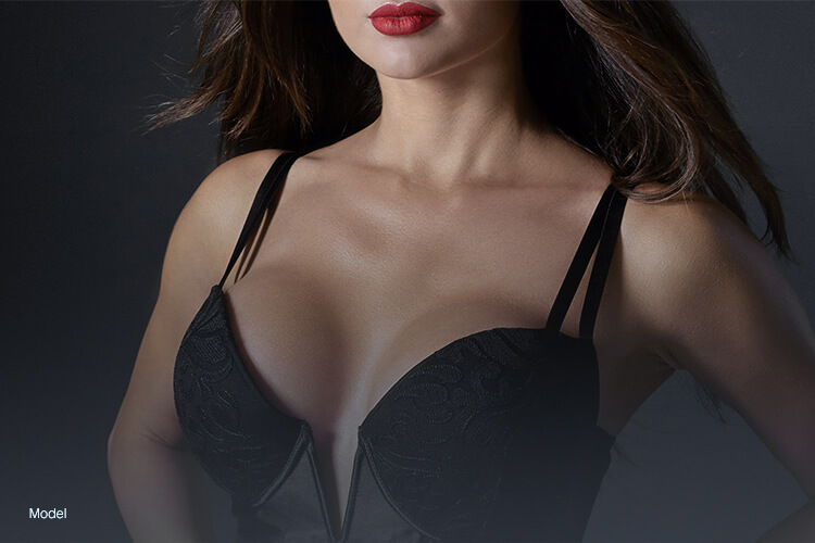 Define breast shape with a breast enhancement procedure