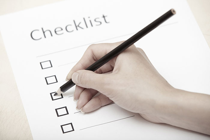 Pre-operative checklist
